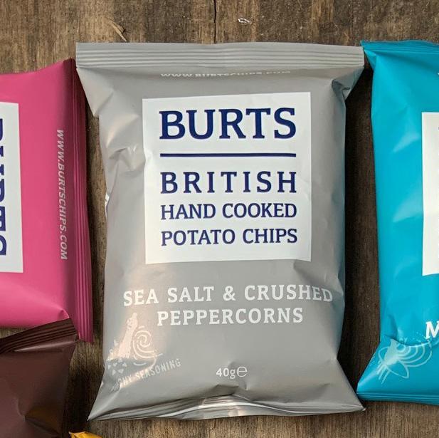 Burts Chips Sea Salt & Crushed Peppercorns 40g