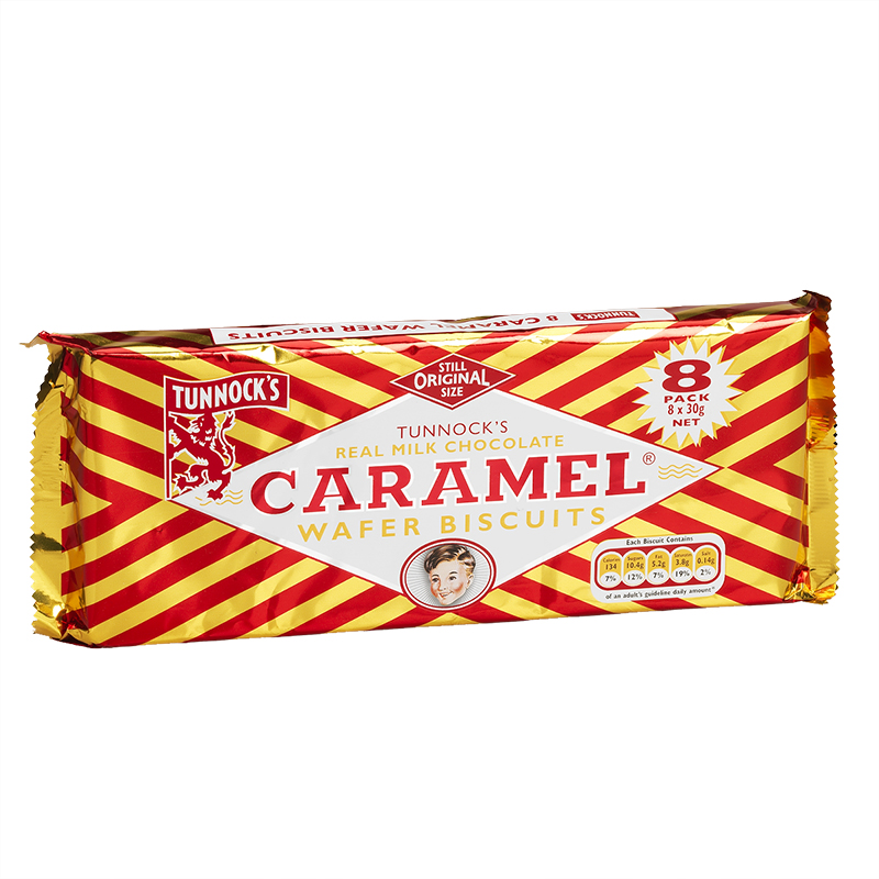 Caramel Wafer Biscuits 8PK