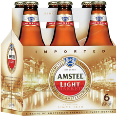 Amstel Light Bottle 6PK