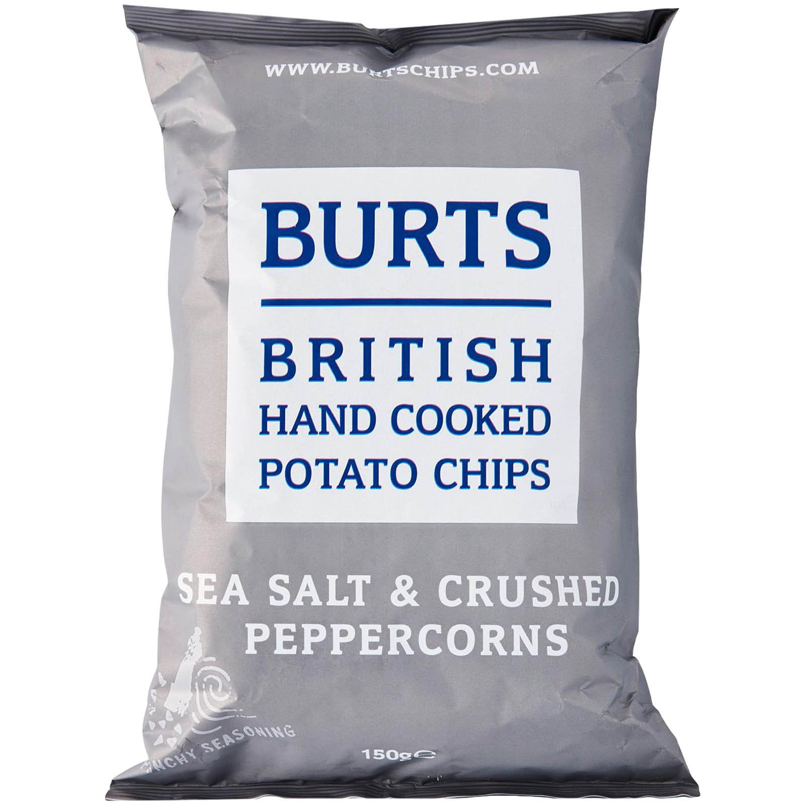 Burts Chips Sea Salt & Crushed Peppercorns 150g
