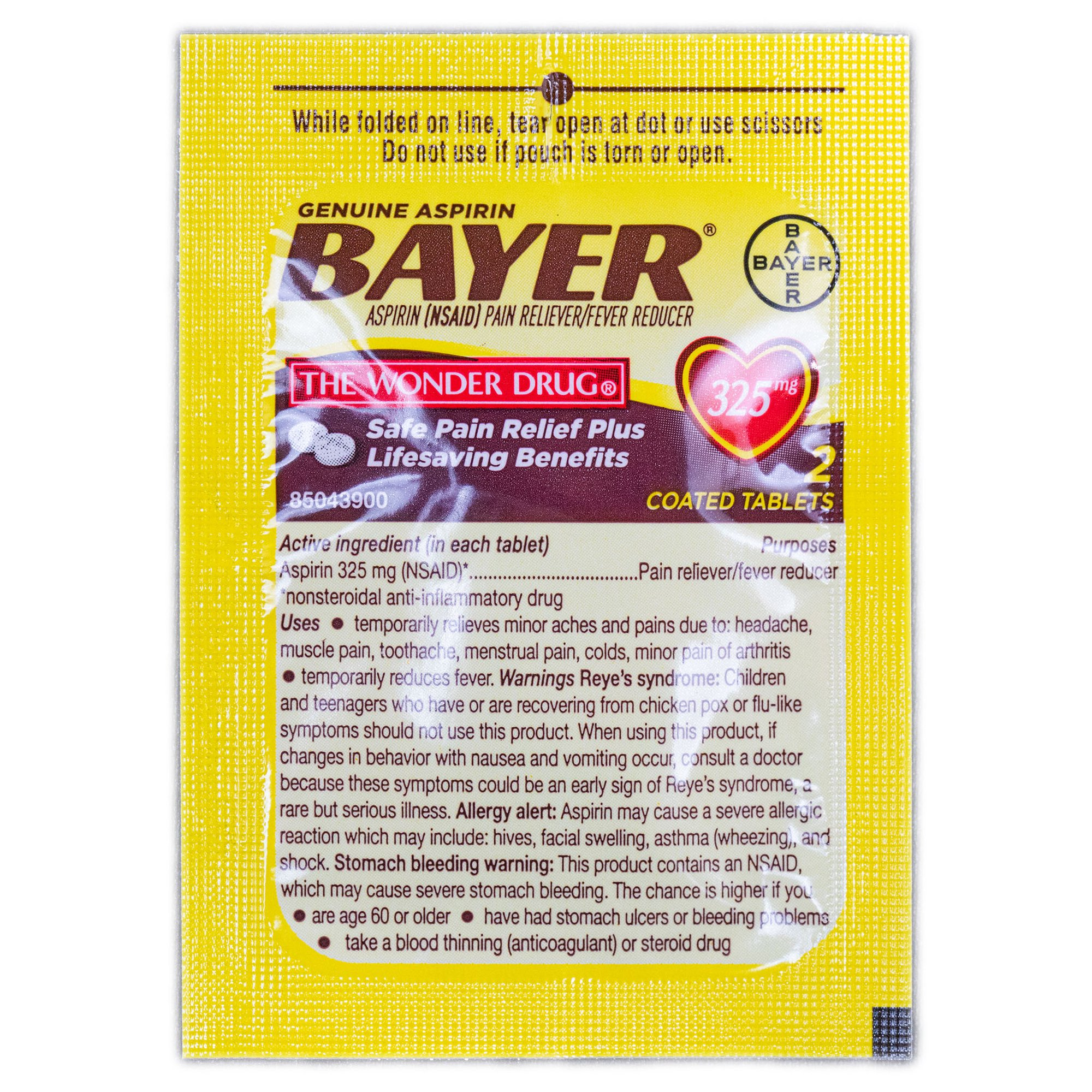 Bayer Aspirin 4 Tablets 325mg